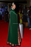 Manchu Lakshmi in a Strange Green Saree at 64th Jio Filmfare Awards South ~  Exclusive 010.JPG