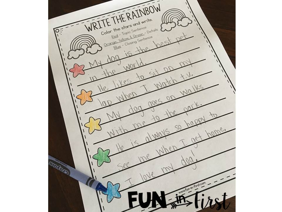 write the rainbow an organizational tool for writing fun in first