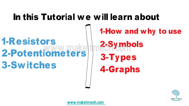 resistors,potentiometer and switches tutorial