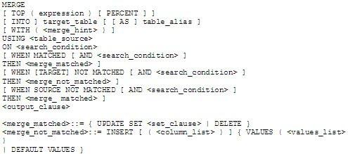 Oracle SQL & PL/SQL: SQL Merge