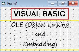 Menggunakan OLE (Object Linking and Embedding) Visual Basic