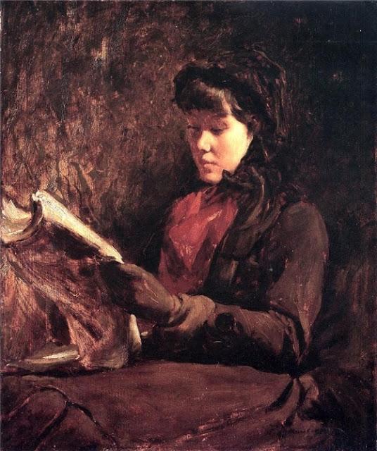 Frank Duveneck Читающая девушка