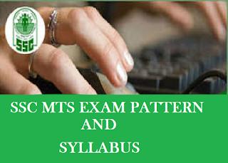 SSC MTS Exam Pattern and Syllabus