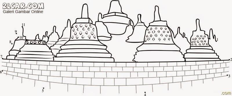 Gambar Borobudur Tiupkan Pesan Damai Dunia Candi Gambar Karikatur