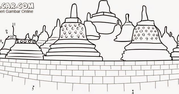 Gambar Lukisan Candi Borobudur Gambar Abc