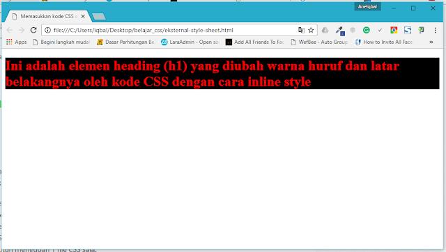 Cara Memasukkan Kode CSS ke dalam File HTML