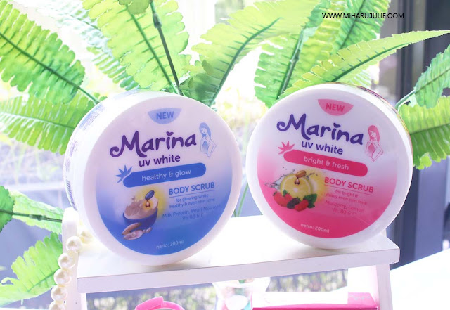 REVIEW Marina UV White Healthy & Glow Body scrub and Body Lotion
