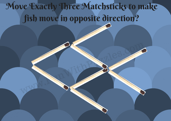 Matchstick Puzzle for kids-Fish