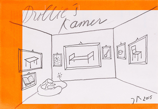 drawing John Körmeling Drolligs Kamer, 2015
