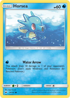 Horsea Burning Shadows Pokemon Card