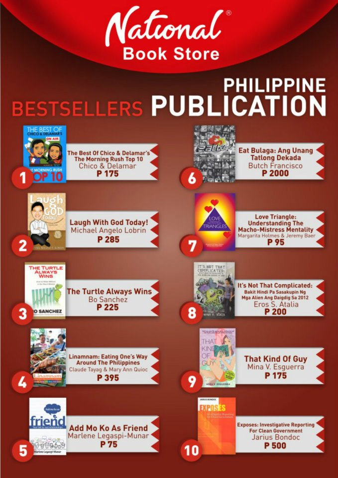 Justin Aquino's Blog: National Bookstore: Best Seller for