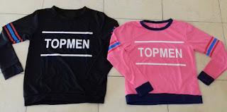 Jual Online Sweater Topmen Couple Murah Jakarta Bahan Babytery Terbaru