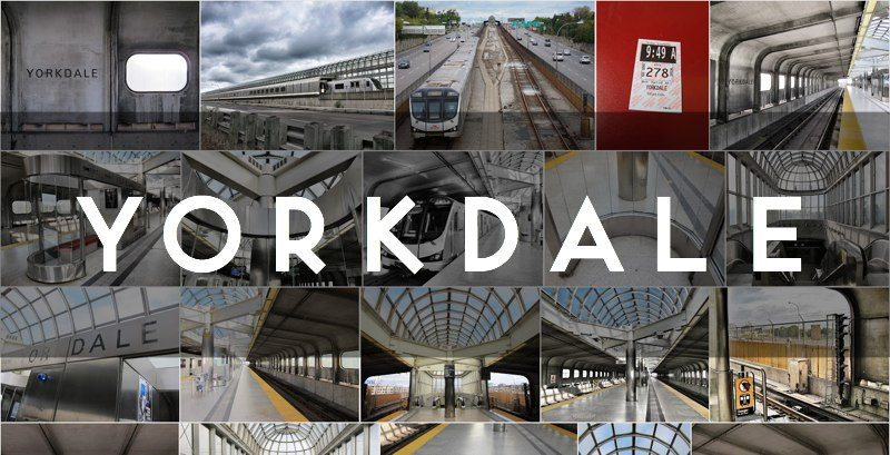 Photo gallery of the TTC's Yorkdale subway station