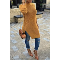 153434 G 1476454363233 - KHAKI COAT, MIDI SKIRT AND MUSTARD JUMPER