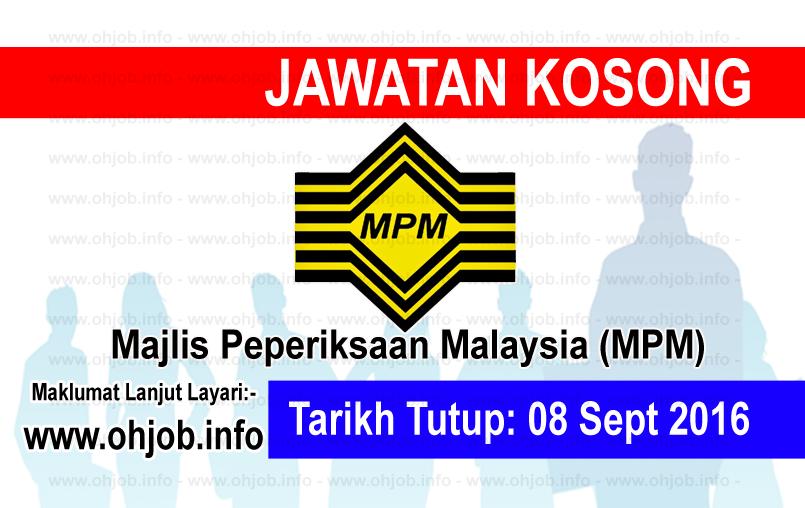 Jawatan Kerja Kosong Majlis Peperiksaan Malaysia (MPM) logo www.ohjob.info september 2016