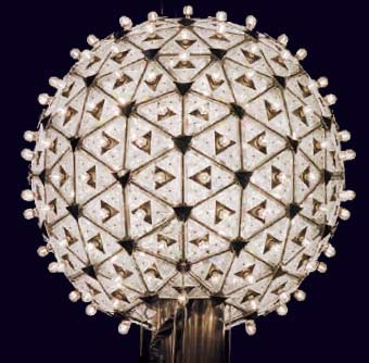 Photo of ball covered in crystals for New Year's Eve countdown in Times Square