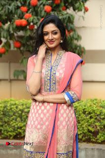 Actress Vimala Raman Stills in Beautiful Pink Salwar Kameez at (ONV) Om Namo Venkatesaya Press Meet  0165.JPG