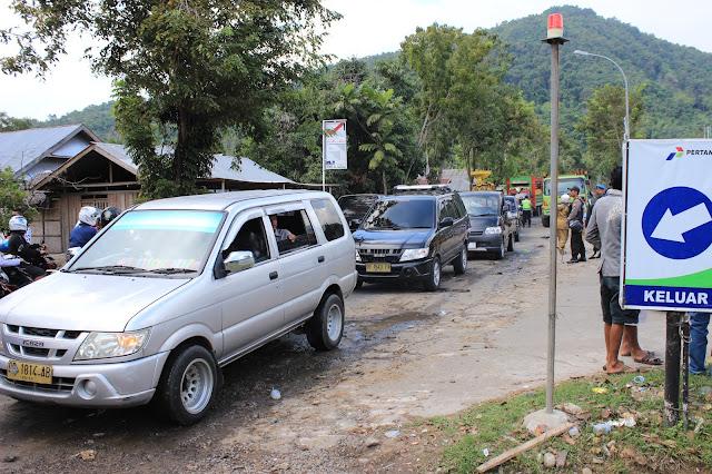Arus Lalulintas Jalan Trans Sulawesi Sudah Ramai Lancar di Lokasi Eksekusi