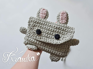 Krawka: Bunny bag - free pattern, cute summer project pattern by Krawka