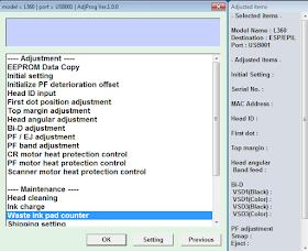 Epson l380 reset with Keygen
