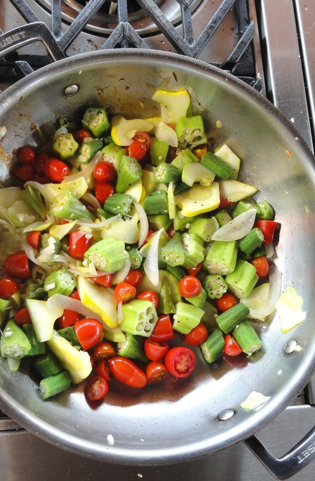 Menu For Olive Garden: Plant To Plate: Okra Summer Garden Sauté