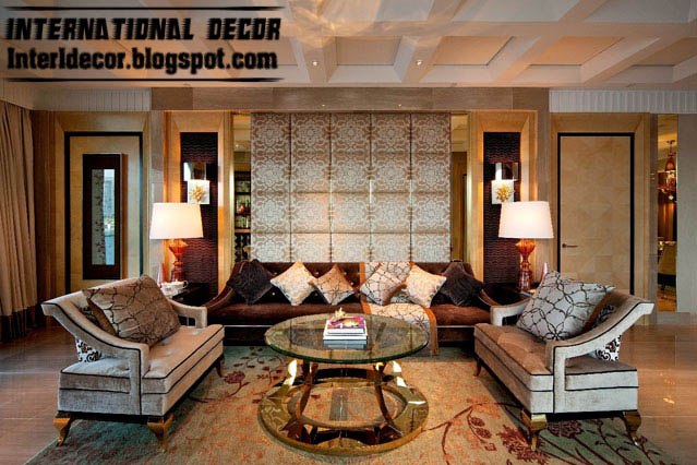 Turkish Living Room Design Ideas With Pop Wall And Coffered Ceiling, Turkish  Interior Design