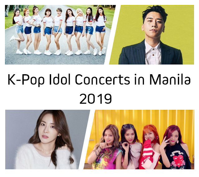 K-Pop Idol Concerts in Manila 2019 | Korea | Study | Work | Travel
