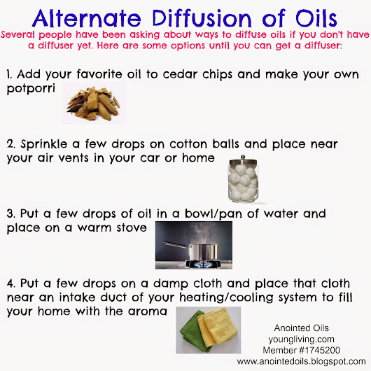Alternate ways to diffuse oils without a diffuser
