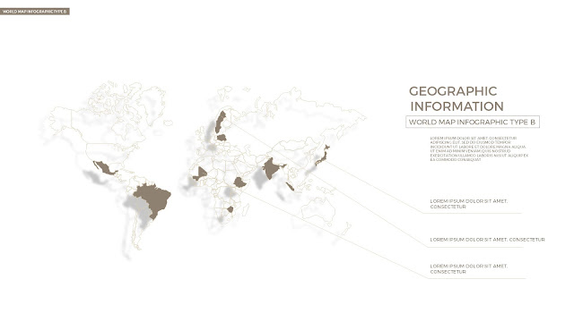 Infographic World Map by country in Powerpoint Slide2