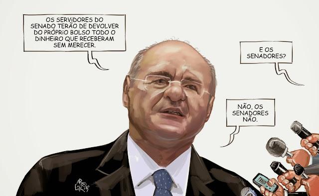 Resultado de imagem para Renan Calheiro/charge/aroeira