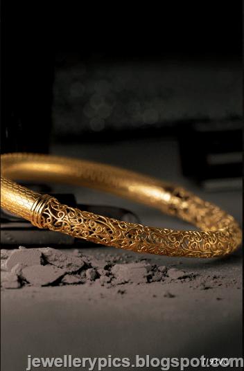 Tanishq Gujarati gold work and Meenakari Gold Bangles  Latest Jewellery Designs