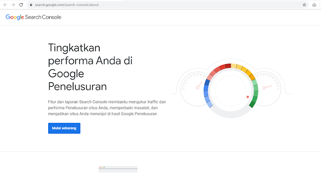 Mendaftarkan blog ke google search console