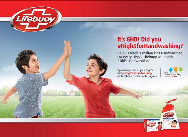 #High5forhandwashing, Kempen #High5forhandwashing, kempen lifebuoy, hari mencuci tangan sedunia,