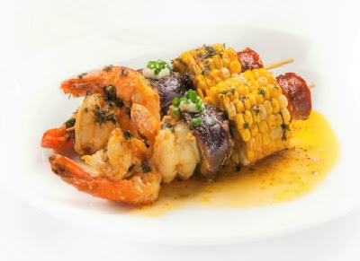 Grilled Cajun Shrimp Boil and Lemon Aioli Recipe
