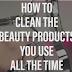 Βίντεο πως να καθαρίσετε προιοντα ομορφιάς που χρησιμοποιούμε συνέχεια