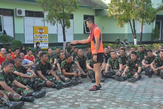 """Danrem 071/WK : """"Pentingnya Pembinaan Fisik Bagi Anggota TNI """""""