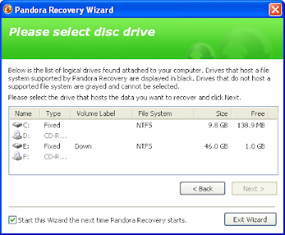 pandora recovery software free download for pc