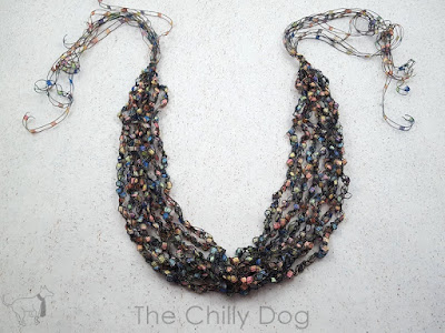 Free Pattern: How to make a crochet ladder yarn necklace