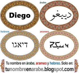 Nombre de Diego en hebreo para tatuajes