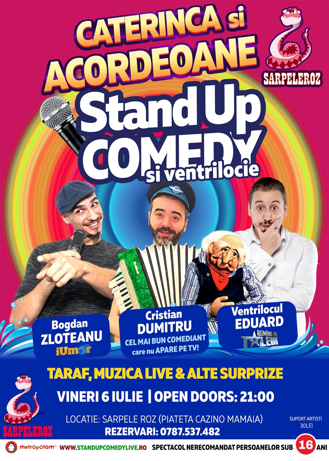 Caterinca si Acordeoane! (Stand-Up Comedy & Ventrilocie)