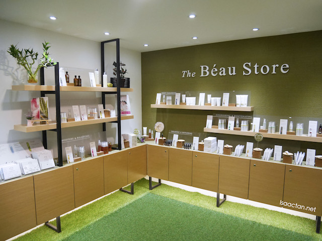 Shop at The Beau Store before leaving HerbaLine Facial Spa, Sojourn Guest House