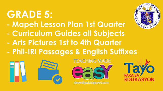 mapeh 3 lessons first grading Sample lesson plan format for grade 7 mapeh the first quarter is composed of or the content standard found in the curriculum guide for grade 7.