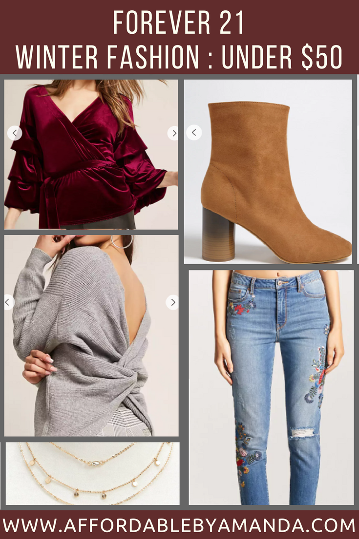forever 21 winter fashion under $50 budget friendly