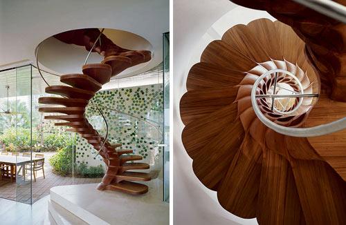 Diseño de escalera en caracol