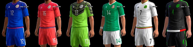 PES 2013 Mexico New Kit Copa America Centenario 2016