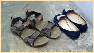 gambar kasut wanita dan sandal lelaki