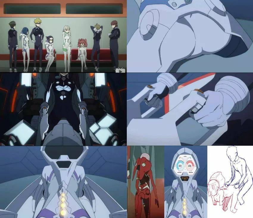 darling in the franxx como funciona o controle do mecha