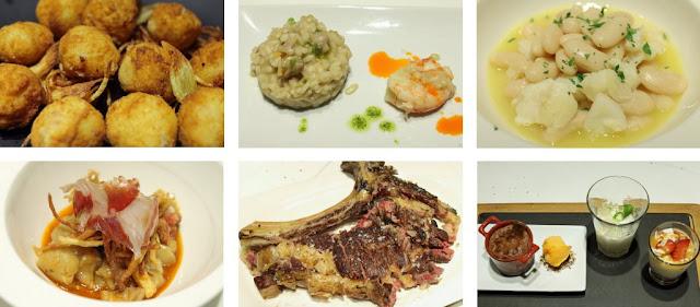 Menu degustación del Restaurante del Río, Cangas del Narcea
