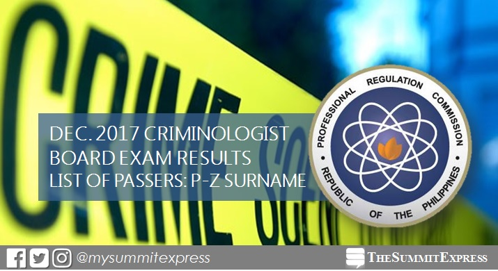13,025 out of 36,516 pass December 2017 Criminologist board exam