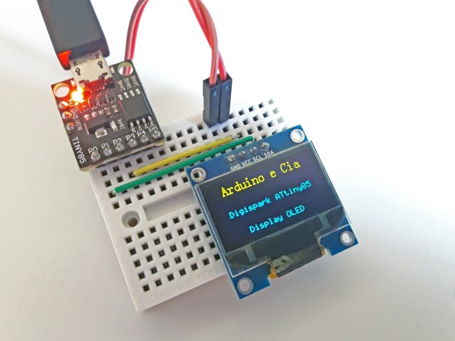 Digispark ATTiny85 e Display OLED I2C